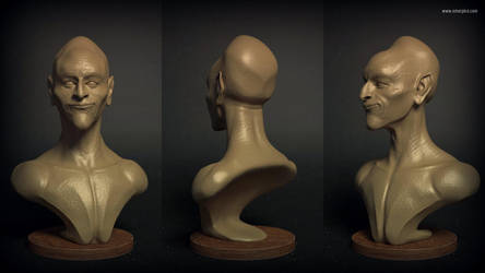 150414 sculptSketch head OmarPico by OAPM