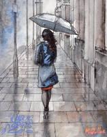 Girl with umbrella by Ardillas
