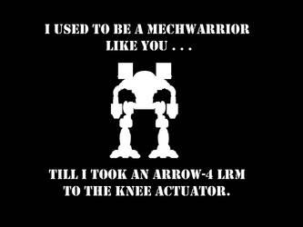 I used to be a Mechwarrior like you . . . by MillenniumFalsehood