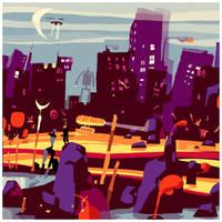 purple.cityscape by betteo