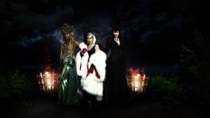 Queens of darkness (Ursula, Cruella, Maleficent) by Panchecco
