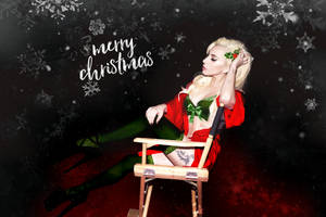 Lady Gaga - Merry Christmas (Wallpaper) by Panchecco