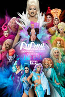 RuPaul's Drag Race Season 9 PREMIERE Poster by Panchecco