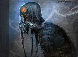 Gasmask Alien by Raggedy-Annedroid