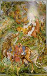 The Guarantor of The Gazelle by Farshchian