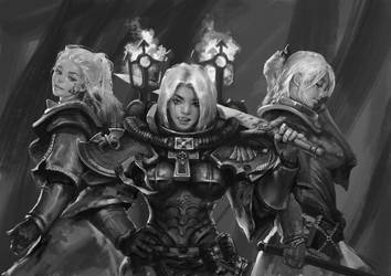 Battle Sister Squard by yangzheyy