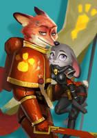 Judi and Nick by yangzheyy