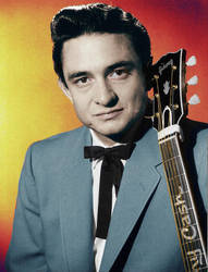Johnny Cash 1958 Colorized by OldHank