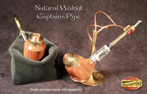 Walnut Captain's Pipe by Steampunked-Out