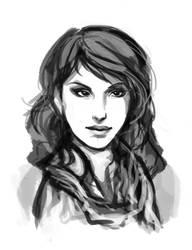Scarf Sketch by DU57Y