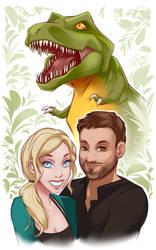 Dino Portrait by DU57Y