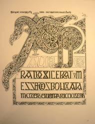 Chi Rho, Lindisfarne Gospels by Holyrose