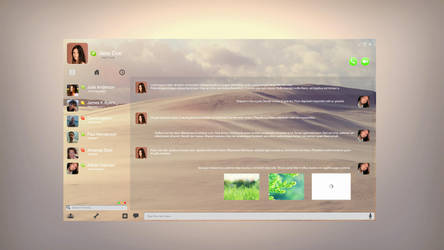 Skype UI concept 02 by cocoonH
