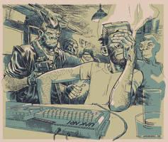 Cyberpulp - Cazi says brains by Laemeur