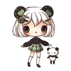 Rose Panda by mochatchi