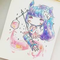 Blue Bunny by mochatchi