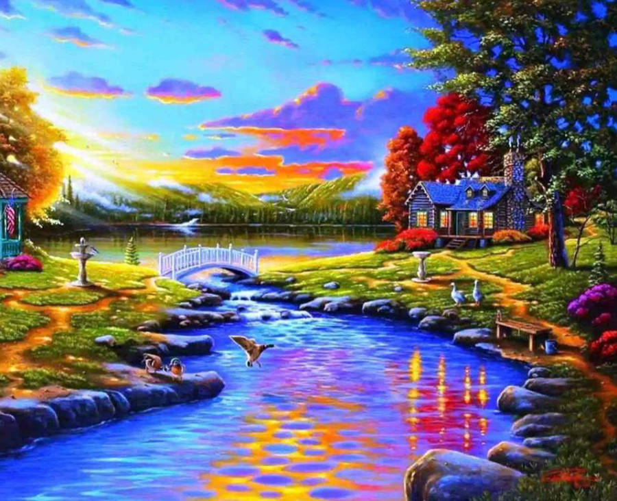 Backyard Sunset by XxCrashPandaxX