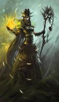 Elf Sorceress by gerezon