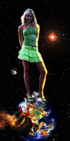 Cosmic Giantess Tanya Destroys Earth by GiantessStudios101