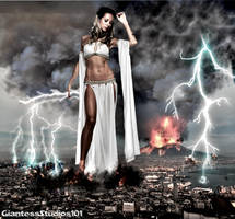Mega Giantess Venus's Wrath by GiantessStudios101