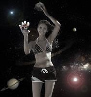 Giga Goddess Nina Dobrev - The Celestial Being by GiantessStudios101