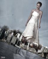 Mega Jennifer Lawrence - Terrifies the Terrorists by GiantessStudios101