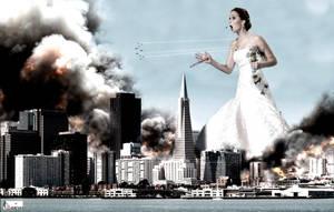 Giantess Jennifer Lawrence - Bridezilla Attacks by GiantessStudios101