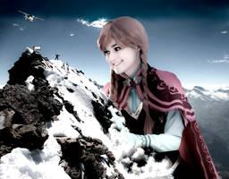 Mega Giantess Anna Climbs The Matterhorn - Part 2 by GiantessStudios101