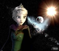 Giga Goddess Elsa Freezes Earth by GiantessStudios101