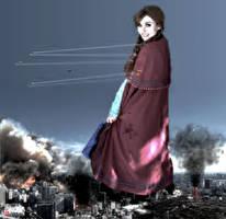 Mega Giantess Anna - Tokyo Demolition by GiantessStudios101