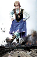 Mega Giantess Princess Anna - Ravaging Chicago by GiantessStudios101