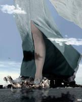 Frozen Mega Giantess Queen Elsa - Crushing Boston by GiantessStudios101