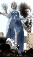 Frozen Giantess Queen Elsa - Exploring Downtown LA by GiantessStudios101