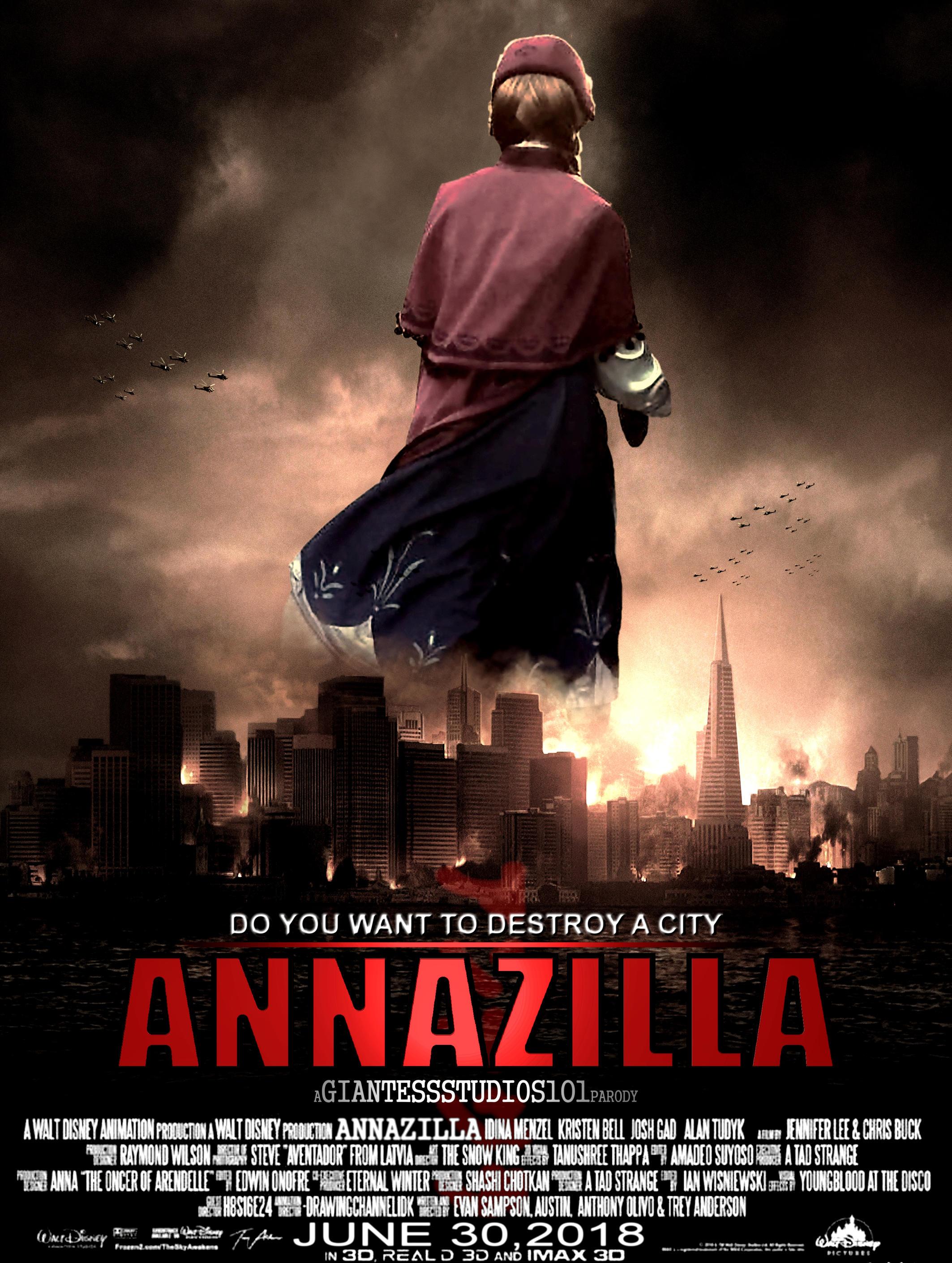 Mega Giantess Princess Annazilla Parody by GiantessStudios101