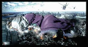 Mega Giantess Princess Anna - A Sleeping Leviathan by GiantessStudios101