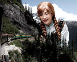 Mega Giantess Princess Anna's Miniature Railway by GiantessStudios101