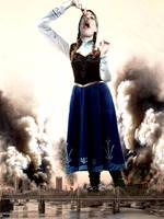 Mega Giantess Princess Anna's British Invasion by GiantessStudios101