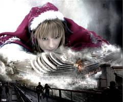 Mega Giantess Princess Anna - Harbor Attack by GiantessStudios101