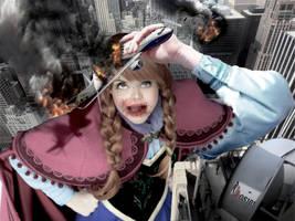 Mega Giantess Princess Anna - Catch Of The Day by GiantessStudios101