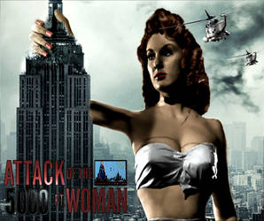Attack Of The 5000ft Woman Poster (Color) by GiantessStudios101