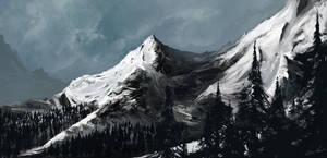 snowy mountain by Bawarner