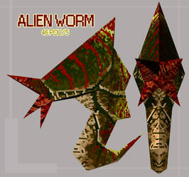 Low Poly Alien Worm by Bawarner