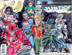 j l Justice League 16 Blank Variant Sketch I by joselrodriguesart