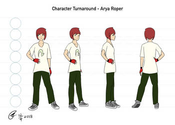 [ARCHIVE] - Arya Roper Character Turnaround by Its-Joe-Time