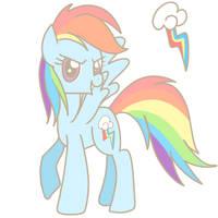 Rainbow Dash by The-Sliver-Stars