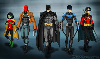 Batman and sons by shamserg
