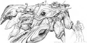 SPLICERS Evolved Leviathan by ChuckWalton