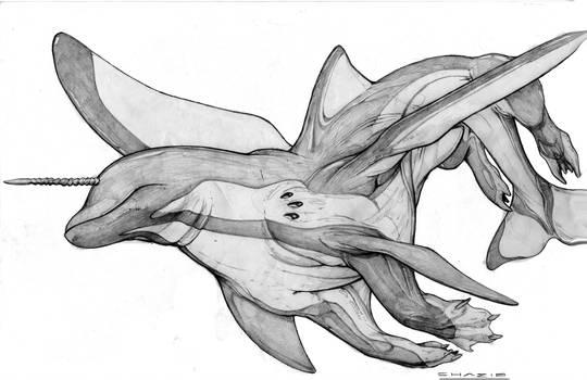 Lemurian Sea Lance War Steed by ChuckWalton