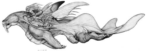Lemurian Sea Saber War Steed by ChuckWalton