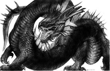 Lemurian Shadow Serpent War Steed by ChuckWalton